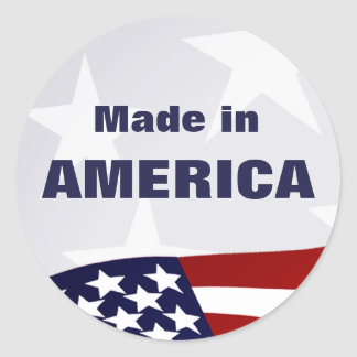 Made in America Classic Round Sticker