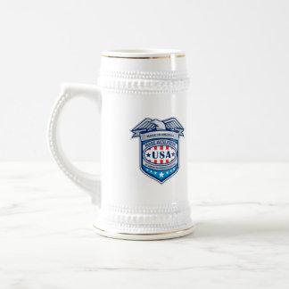 Made In America Eagle Patriotic Shield Retro Beer Stein