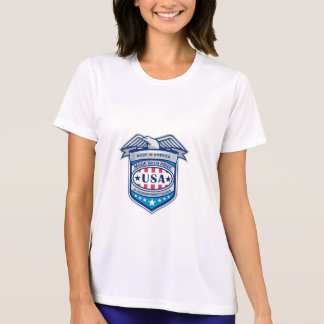 Made In America Eagle Patriotic Shield Retro T-Shirt
