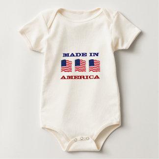 Made in America Patriotic American Baby Baby Bodysuit