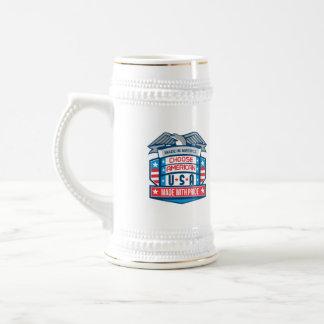 Made In America Patriotic Shield Retro Beer Stein