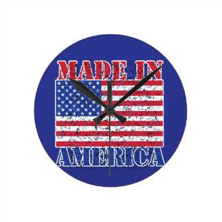 Made in America Round Clock