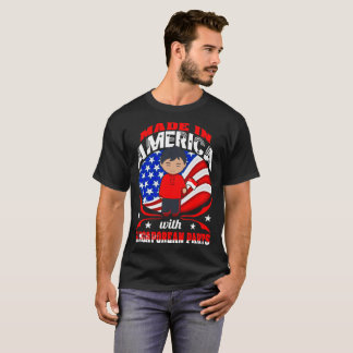 Made In America Singaporean Parts Country Tshirt