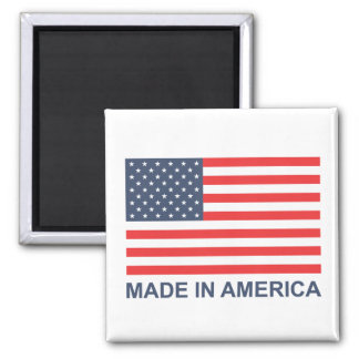 Made In America Square Magnet