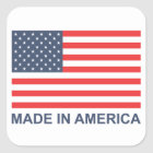 Made In America Square Sticker