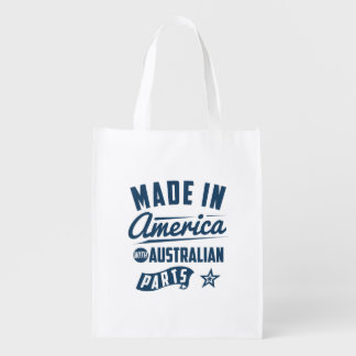 Made In America With Australian Parts Reusable Grocery Bag
