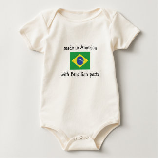 made in America with Brazilian parts Baby Bodysuit