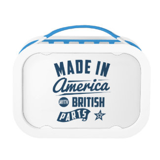 Made In America With British Parts Lunch Box