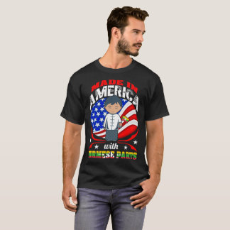 Made In America With Burmese Parts Country Tshirt