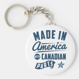 Made In America With Canadian Parts Keychain