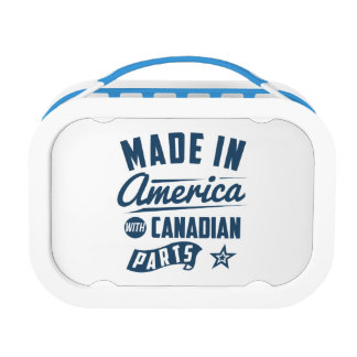 Made In America With Canadian Parts Lunch Box