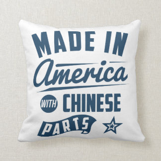 Made In America With Chinese Parts Throw Pillow