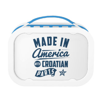 Made In America With Croatian Parts Lunch Box