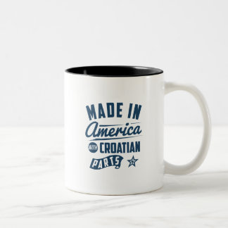 Made In America With Croatian Parts Two-Tone Coffee Mug