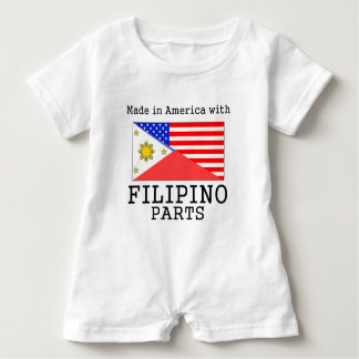 Made In America With Filipino Parts Baby Romper
