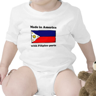 Made In America With Filipino Parts T-shirts
