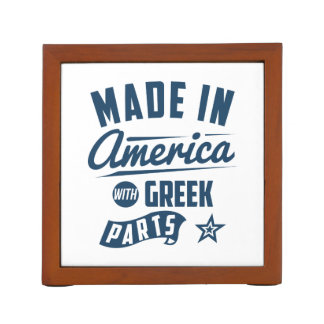 Made In America With Greek Parts Desk Organizer