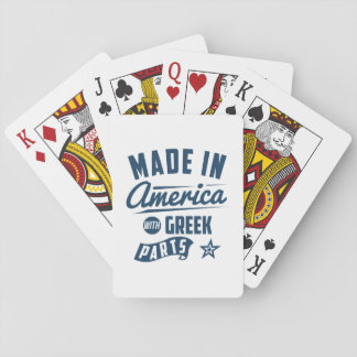 Made In America With Greek Parts Playing Cards