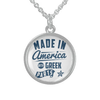 Made In America With Greek Parts Sterling Silver Necklace