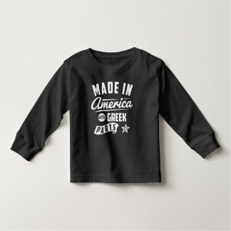 Made In America With Greek Parts Toddler T-shirt