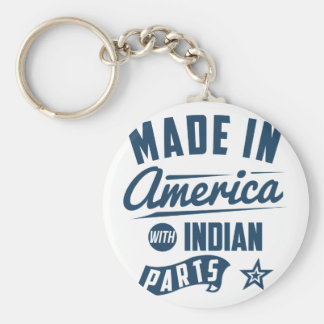 Made In America With Indian Parts Keychain