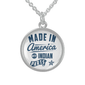 Made In America With Indian Parts Sterling Silver Necklace