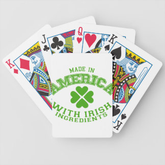 Made in America with Irish ingredients Bicycle Playing Cards