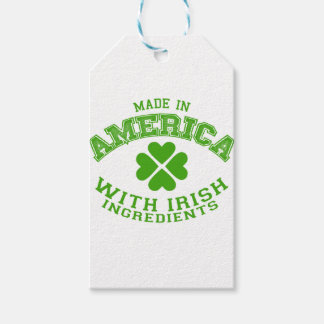 Made in America with Irish ingredients Gift Tags