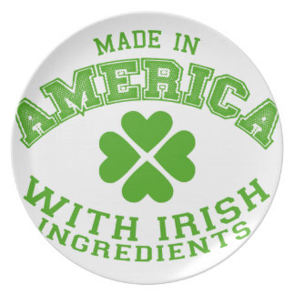 Made in America with Irish ingredients Plate