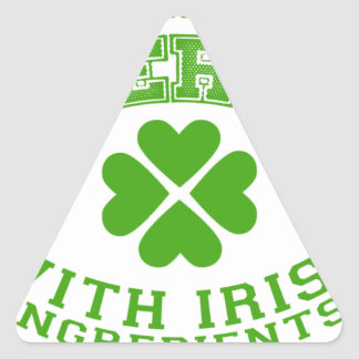 Made in America with Irish ingredients Triangle Sticker