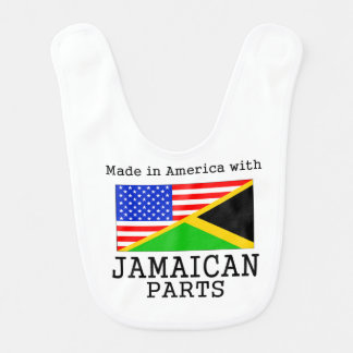 Made In America With Jamaican Parts Bib