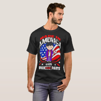 Made In America With Japanese Parts Country Tshirt