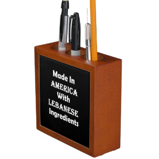Made In America With Lebanese Ingredients Desk Organizer