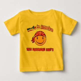 made in America with Macedonian part's Baby T-Shirt