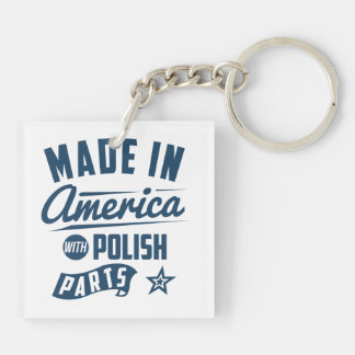 Made In America With Polish Parts Keychain