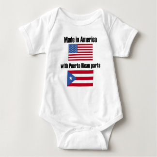 Made In America With Puerto Rican Parts Baby Bodysuit