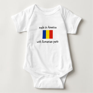 made in America with Romanian parts Baby Bodysuit