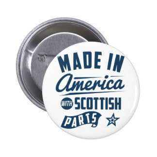 Made In America With Scottish Parts 2 Inch Round Button