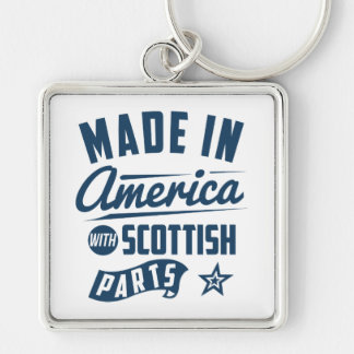 Made In America With Scottish Parts Keychain
