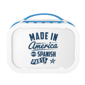 Made In America With Spanish Parts Lunch Boxes