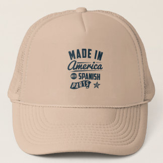 Made In America With Spanish Parts Trucker Hat