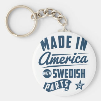 Made In America With Swedish Parts Keychain