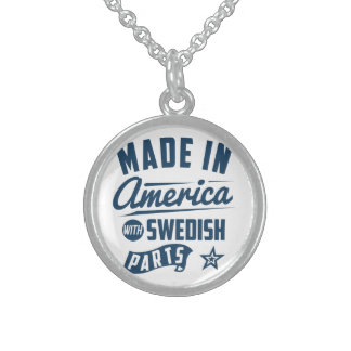 Made In America With Swedish Parts Sterling Silver Necklace