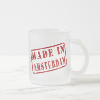 Made in Amsterdam Frosted Glass Coffee Mug