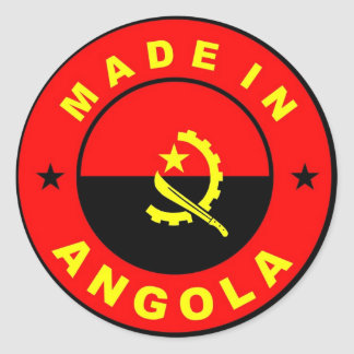 made in angola country flag label