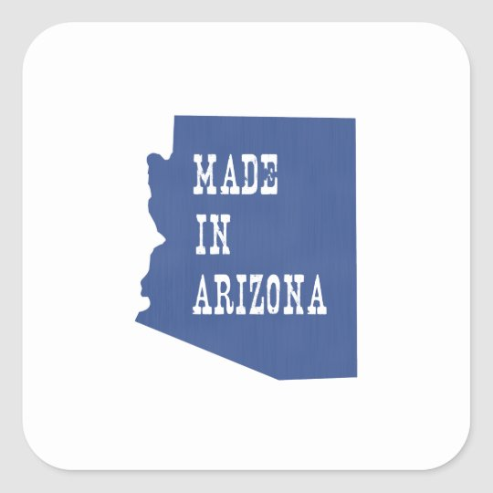Made In Arizona Square Sticker