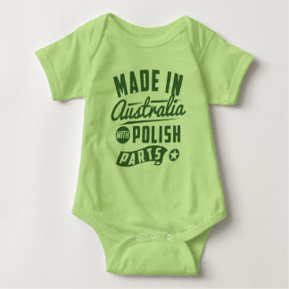 Made In Australia With Polish Parts Baby Bodysuit