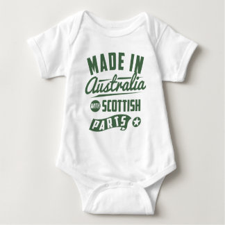 Made In Australia With Scottish Parts Baby Bodysuit