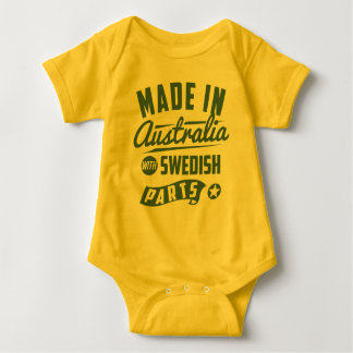 Made In Australia With Swedish Parts Baby Bodysuit