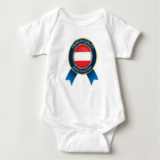 Made in Austria Flag, Austrian Colors, Baby cloth Baby Bodysuit